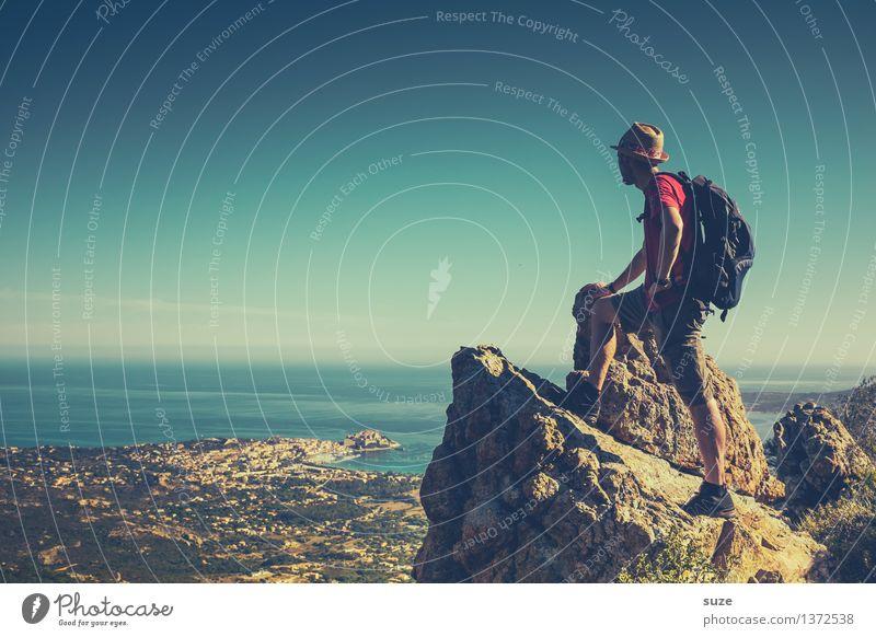 Bergmann Mensch Natur Ferien & Urlaub & Reisen Mann Sommer Landschaft Junger Mann Berge u. Gebirge Erwachsene Umwelt Freiheit Tourismus maskulin