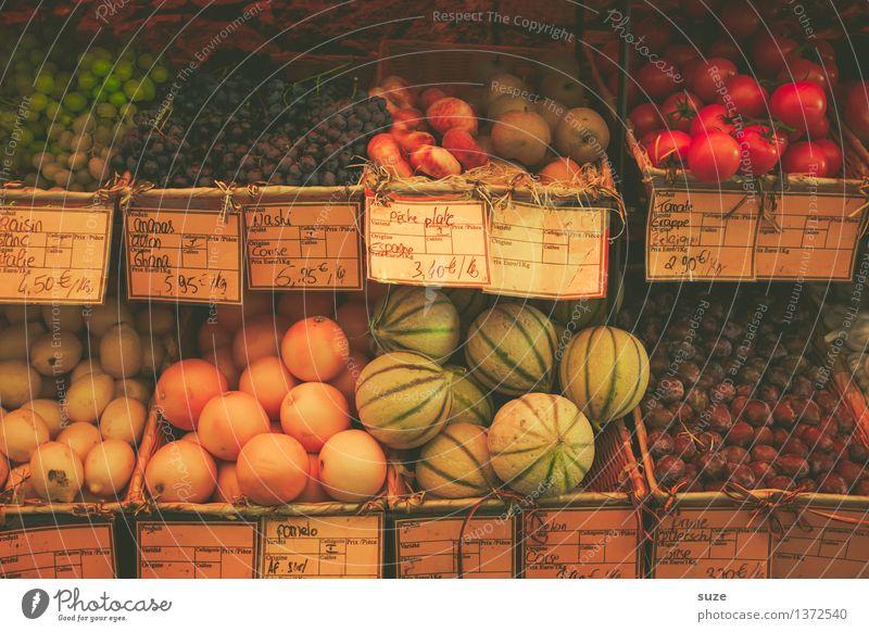 Fruchtstand Ferien & Urlaub & Reisen Sommer Gesunde Ernährung Lebensmittel Frucht Tourismus frisch Orange authentisch Ernährung Europa lecker Gemüse mediterran Frankreich Flair