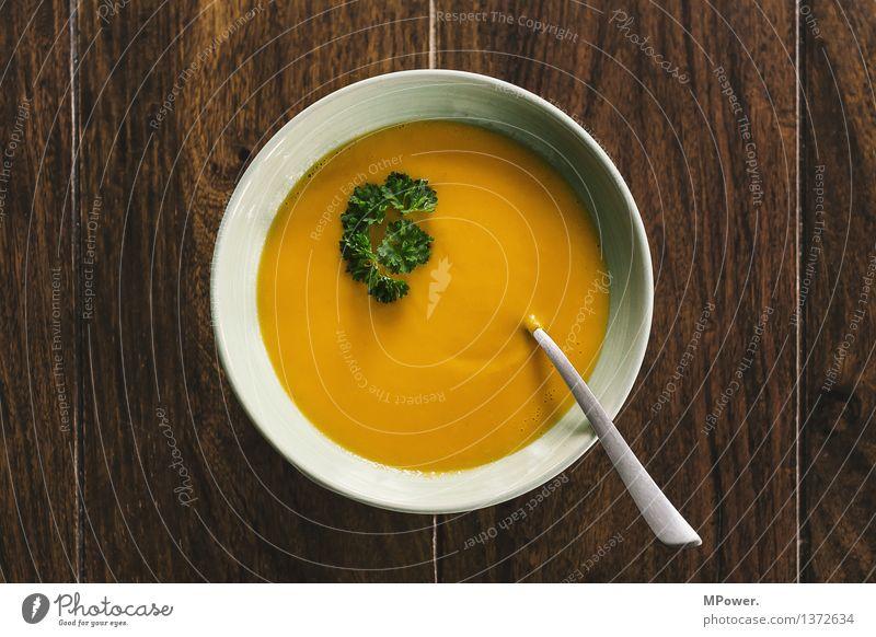 eigenes süppchen Lebensmittel Gemüse Ernährung Mittagessen Geschirr Teller Löffel genießen lecker Suppe Suppenteller Petersilie Gesundheit Vegane Ernährung