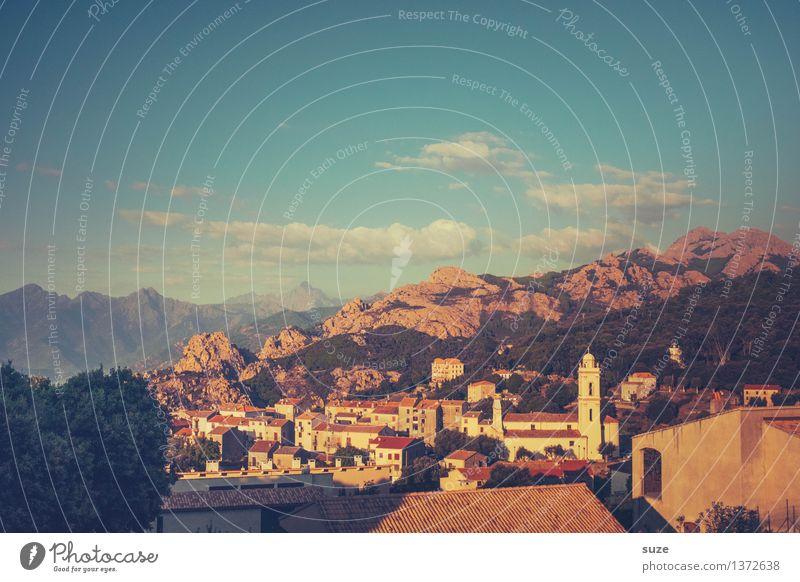 Blick auf Piana Natur Ferien & Urlaub & Reisen alt Sommer Landschaft Haus Berge u. Gebirge Wärme Zeit Zufriedenheit Europa Kultur einzigartig fantastisch Lebensfreude malerisch