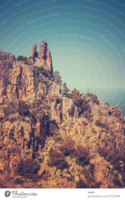 Herz im Stein Himmel Natur Berge u. Gebirge Liebe außergewöhnlich Felsen Zeichen Frankreich Korsika Naturphänomene