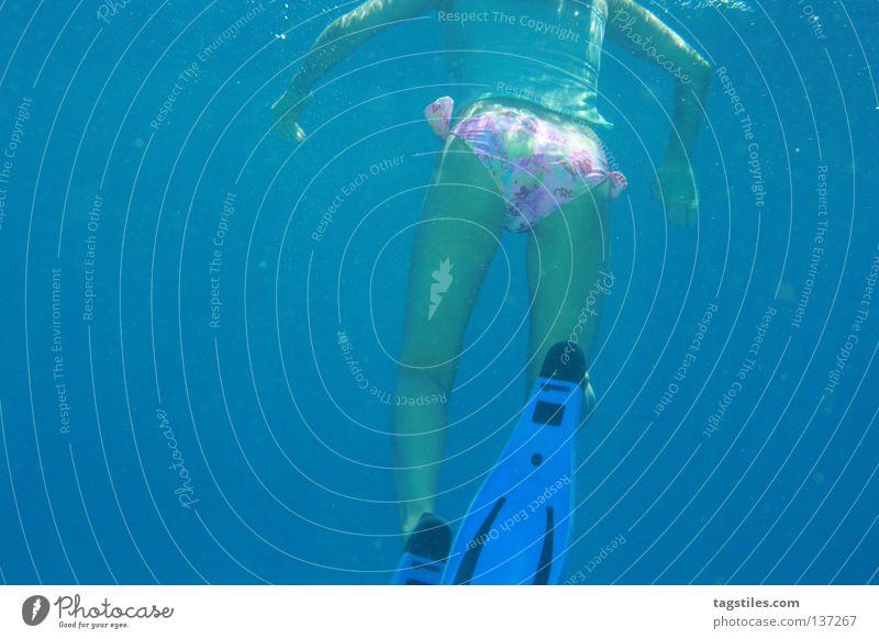 NICE, T(W)OO Frau Wasser schön Meer blau Sommer Ferien & Urlaub & Reisen Erholung Wellen Haut Gesäß Asien tauchen Teile u. Stücke Bikini