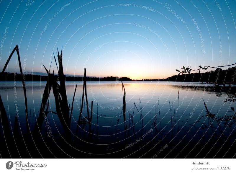 Den Horizont erweitern ... Wasser schön Himmel blau Wolken Glück Stimmung Zusammensein Kraft orange Wetter Horizont Hoffnung Trauer Romantik Klarheit