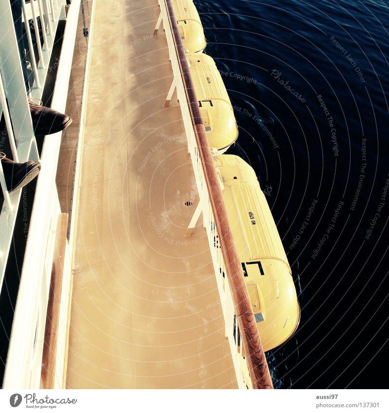 Captain, mein Captain. Meer ruhig Wasserfahrzeug Schifffahrt Kreuzfahrt Pazifik Sonnendeck