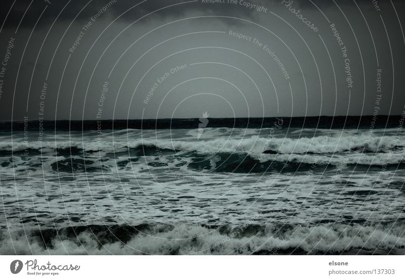 ::STÜRMISCHE ZEITEN:: Wasser Meer Strand Herbst See Wellen Küste Gewitter Gischt