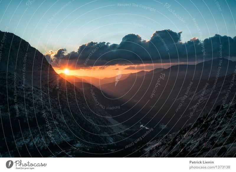Schöne Aussicht Himmel Natur Ferien & Urlaub & Reisen Sonne Erholung Landschaft Wolken Ferne Berge u. Gebirge Umwelt Gesundheit Freiheit Zufriedenheit wandern