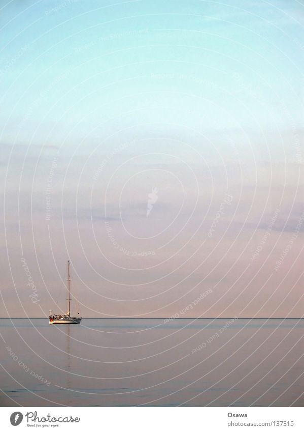 Tag am Meer Himmel Wasser Ferien & Urlaub & Reisen Wolken Ferne Freiheit Küste Wasserfahrzeug Horizont Freizeit & Hobby Ausflug Nordsee Ostsee Segeln Strommast