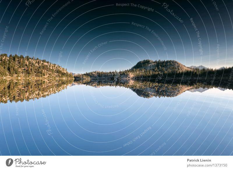Spiegelsee Himmel Natur Ferien & Urlaub & Reisen Sommer Wasser Erholung Landschaft ruhig Ferne Berge u. Gebirge Umwelt Küste Freiheit See Zufriedenheit Wetter