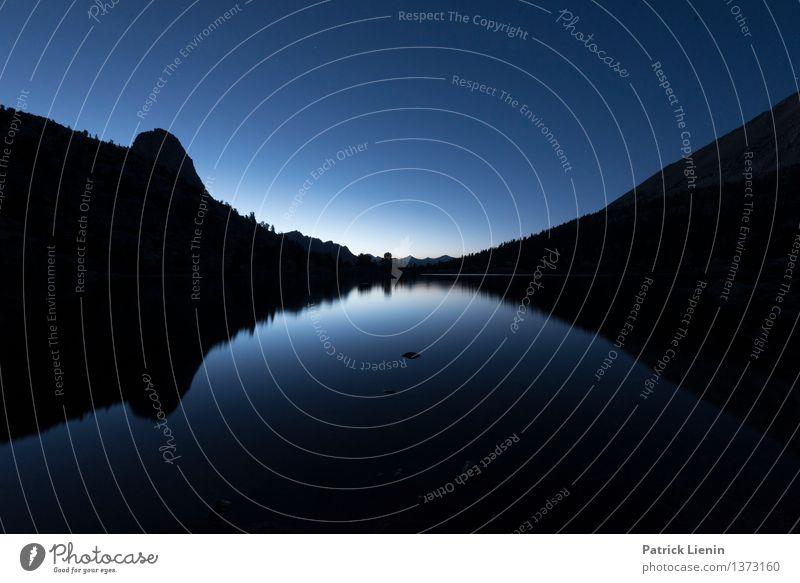 Rae Lakes at Night Natur Ferien & Urlaub & Reisen Sommer Erholung Landschaft Ferne Berge u. Gebirge Umwelt Küste Lifestyle Freiheit See Zufriedenheit Wellen