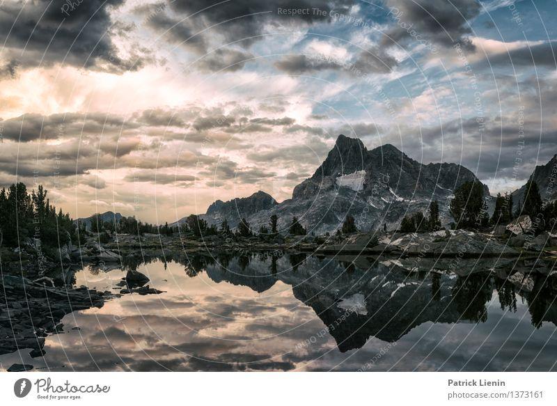Banner Mountain Himmel Natur Ferien & Urlaub & Reisen Sommer Erholung Landschaft Wolken Ferne Berge u. Gebirge Umwelt Freiheit See Wetter Zufriedenheit