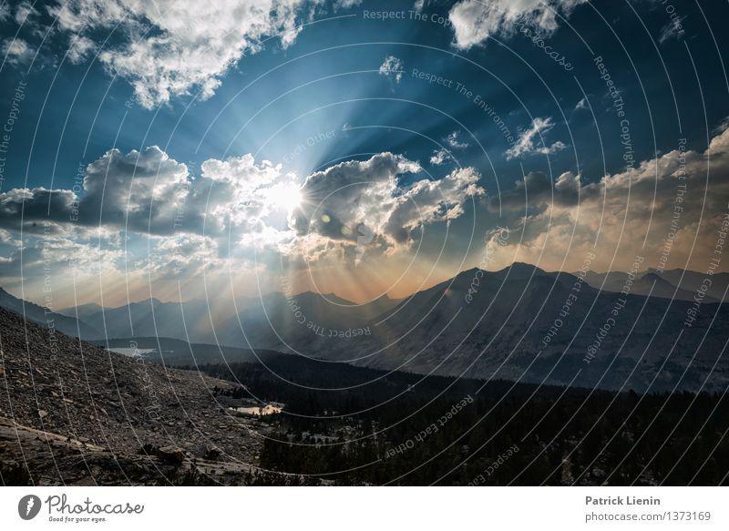 Feuerhimmel Himmel Natur Ferien & Urlaub & Reisen Sommer Landschaft Erholung Wolken ruhig Ferne Berge u. Gebirge Umwelt Freiheit Horizont Wetter Zufriedenheit