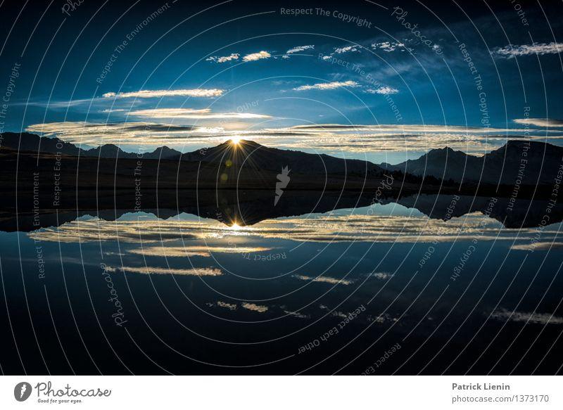 Sonne über der Sierra Zufriedenheit Sinnesorgane Erholung ruhig Meditation Ferien & Urlaub & Reisen Ausflug Umwelt Natur Landschaft Urelemente Erde Himmel