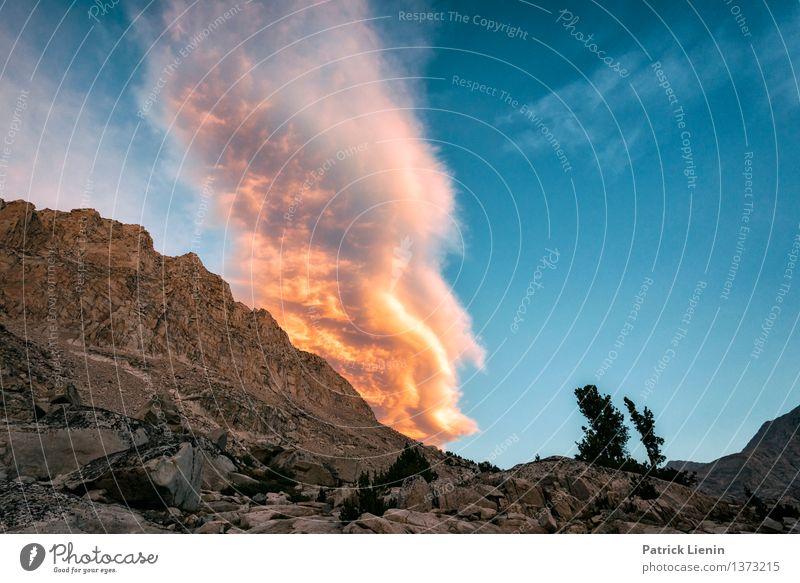 Feuerabend Himmel Natur Ferien & Urlaub & Reisen Sonne Erholung Landschaft Wolken Ferne Berge u. Gebirge Umwelt Felsen Wetter Zufriedenheit Perspektive Ausflug