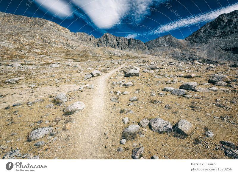 Bergautobahn Ferien & Urlaub & Reisen Ausflug Abenteuer Ferne Freiheit Expedition Camping wandern Umwelt Natur Landschaft Himmel Wolken Sommer Klima Klimawandel