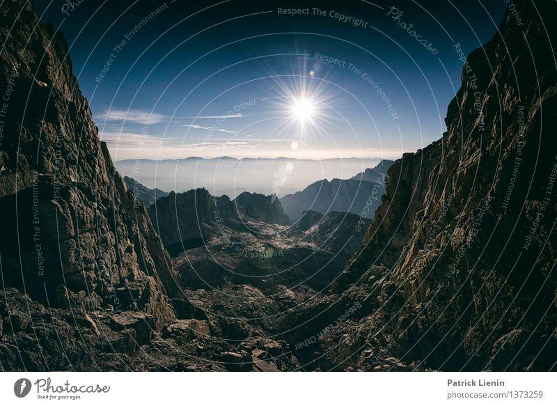 Mt Whitney Himmel Natur Ferien & Urlaub & Reisen Sommer Sonne Landschaft Wolken Ferne Berge u. Gebirge Umwelt Freiheit Felsen Wetter Luft Tourismus wandern