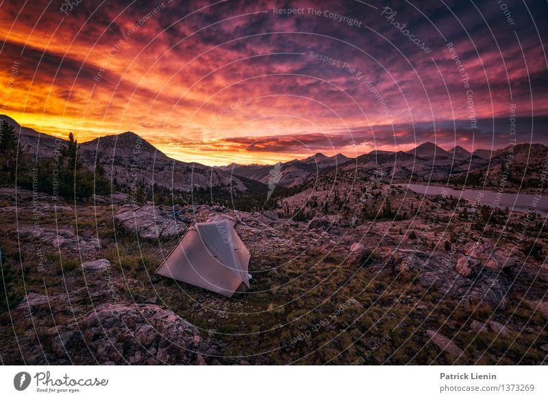 Nachtlager Himmel Natur Ferien & Urlaub & Reisen Pflanze Sommer Sonne Erholung Landschaft ruhig Wolken Ferne Berge u. Gebirge Umwelt Freiheit Zufriedenheit
