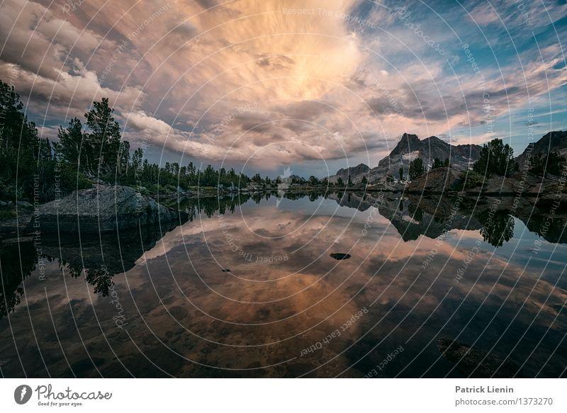 Sierra Nevada Himmel Natur Ferien & Urlaub & Reisen Wasser Erholung Landschaft ruhig Wolken Ferne Berge u. Gebirge Umwelt Leben Freiheit See Stimmung Wetter