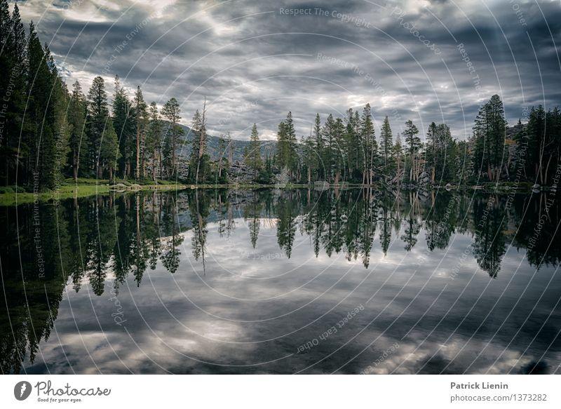 Mirror Lake harmonisch Wohlgefühl Ferien & Urlaub & Reisen Ausflug Abenteuer Ferne Freiheit Expedition Camping Sommer Berge u. Gebirge wandern Umwelt Natur