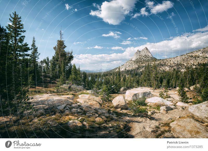 Cathedral Peak Erholung ruhig Ferien & Urlaub & Reisen Camping Sommer Umwelt Natur Landschaft Urelemente Luft Himmel Wolken Sonne Sonnenlicht Klima Klimawandel