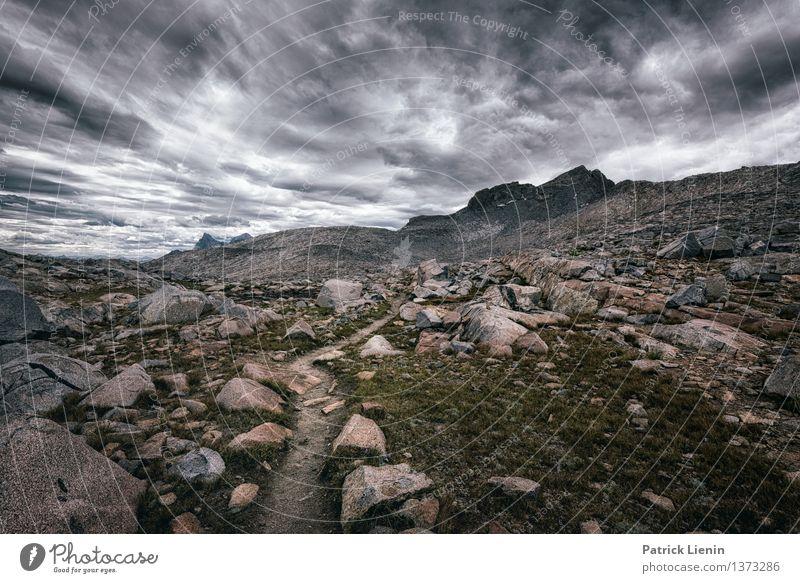 Aufwärts Himmel Natur Ferien & Urlaub & Reisen Erholung Landschaft Wolken ruhig Ferne Berge u. Gebirge Umwelt Lifestyle Freiheit Zufriedenheit Wetter wandern