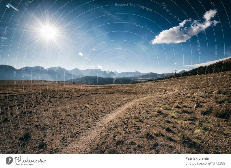 Weit weg Himmel Natur Ferien & Urlaub & Reisen Sommer Sonne Landschaft Wolken Ferne Berge u. Gebirge Umwelt Wärme Gefühle Freiheit Wetter Freizeit & Hobby Luft