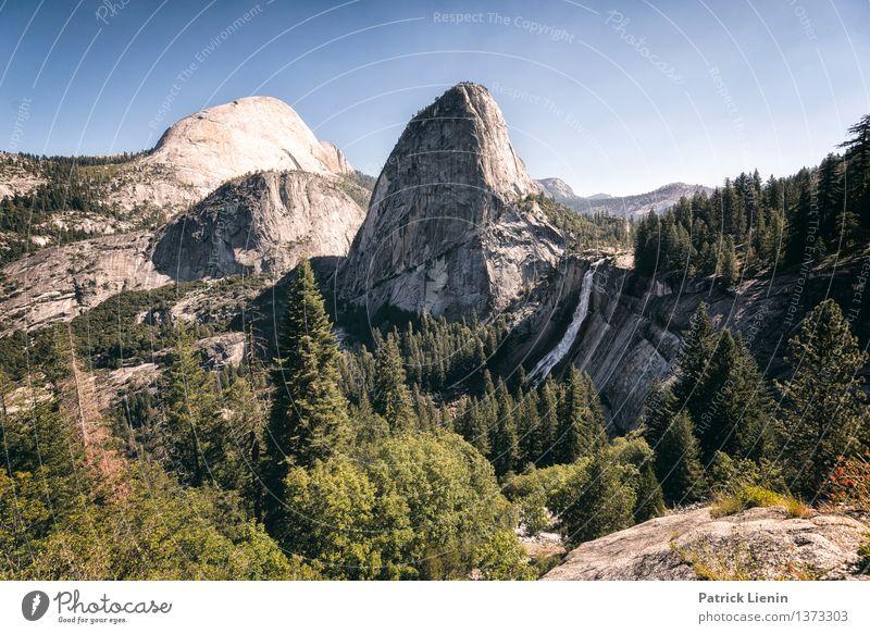 Vernal Fall Himmel Natur Ferien & Urlaub & Reisen Sommer Sonne Landschaft ruhig Ferne Wald Berge u. Gebirge Umwelt Freiheit Zufriedenheit Tourismus Ausflug