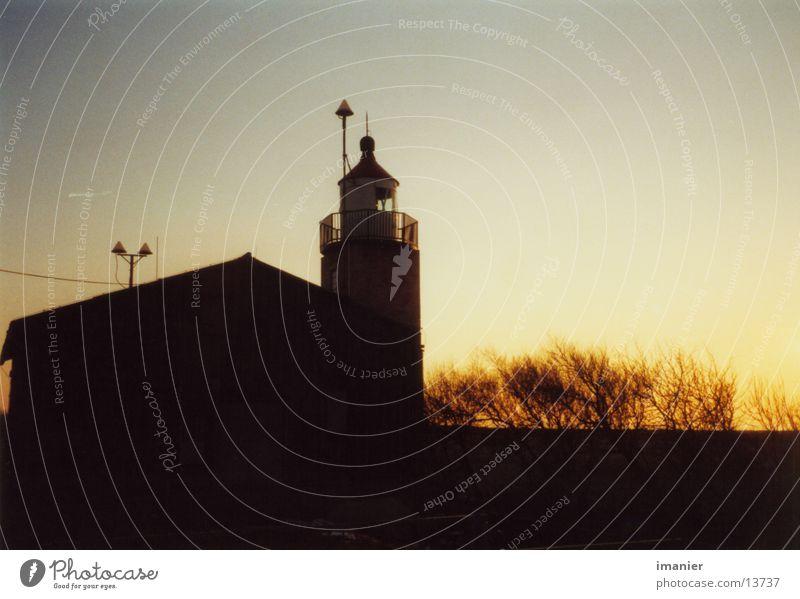 Abends am Leuchtturm Strand Ostsee