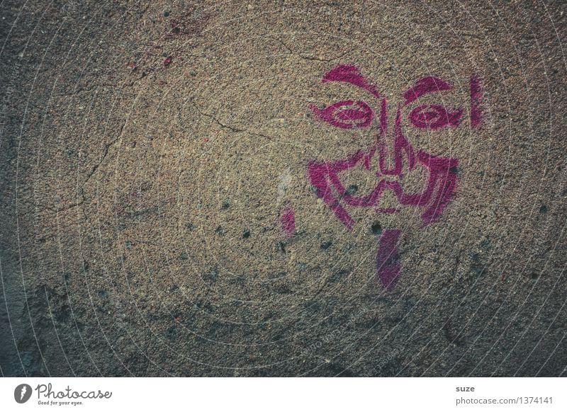 Vendetta Karneval Mauer Wand Fassade Zeichen Coolness einfach grau Rache Freiheit Gerechtigkeit Kultur Kunst Politik & Staat protestieren skurril Gesicht