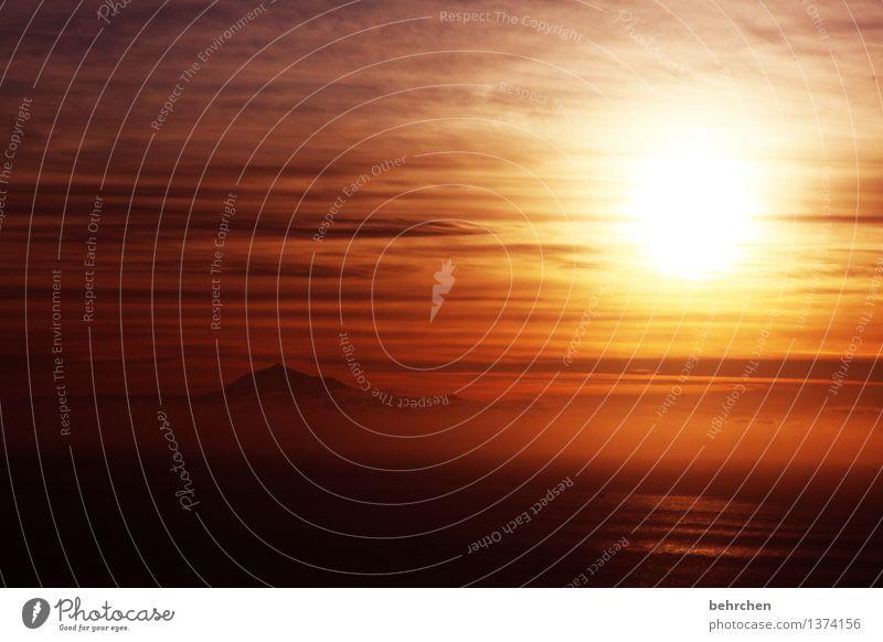 carpe diem Himmel Ferien & Urlaub & Reisen schön Sommer Meer Wolken Ferne Berge u. Gebirge Liebe Frühling Küste außergewöhnlich Freiheit orange träumen