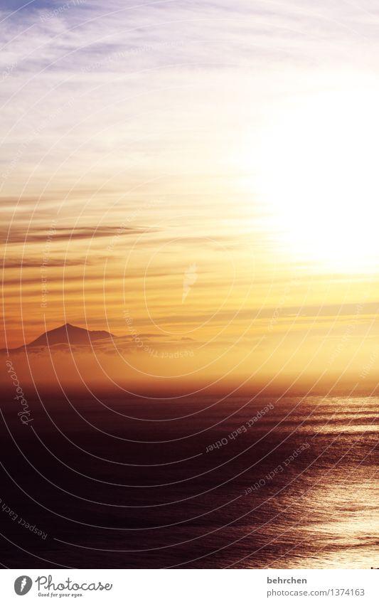wenn träume fliegen lernen Himmel Ferien & Urlaub & Reisen schön Sommer Meer Landschaft Wolken Ferne Berge u. Gebirge Frühling Küste Freiheit träumen orange