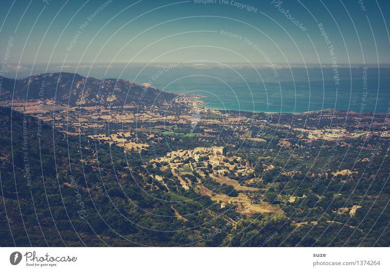 Adieu belle Corse Himmel Natur Ferien & Urlaub & Reisen Sommer Landschaft Meer Ferne Berge u. Gebirge Küste Freiheit Horizont Ausflug wandern Insel Abenteuer malerisch