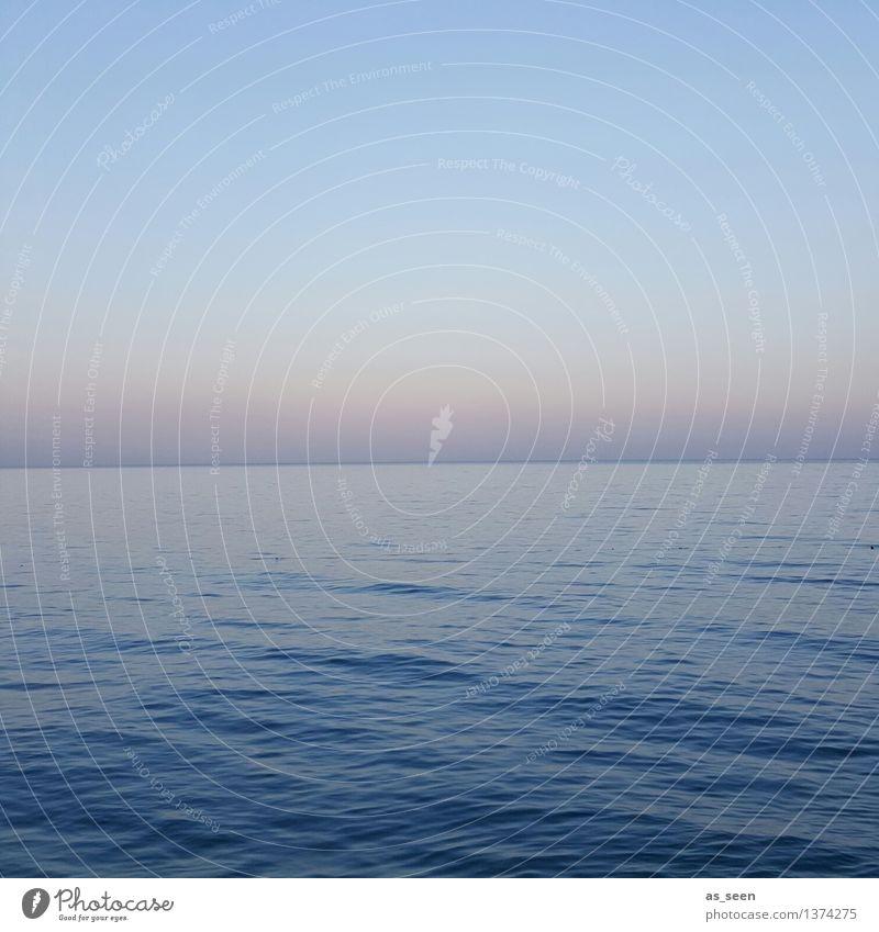Stille Himmel Natur Ferien & Urlaub & Reisen blau Sommer Wasser Erholung Meer Landschaft ruhig Ferne Umwelt Gefühle natürlich Freiheit orange