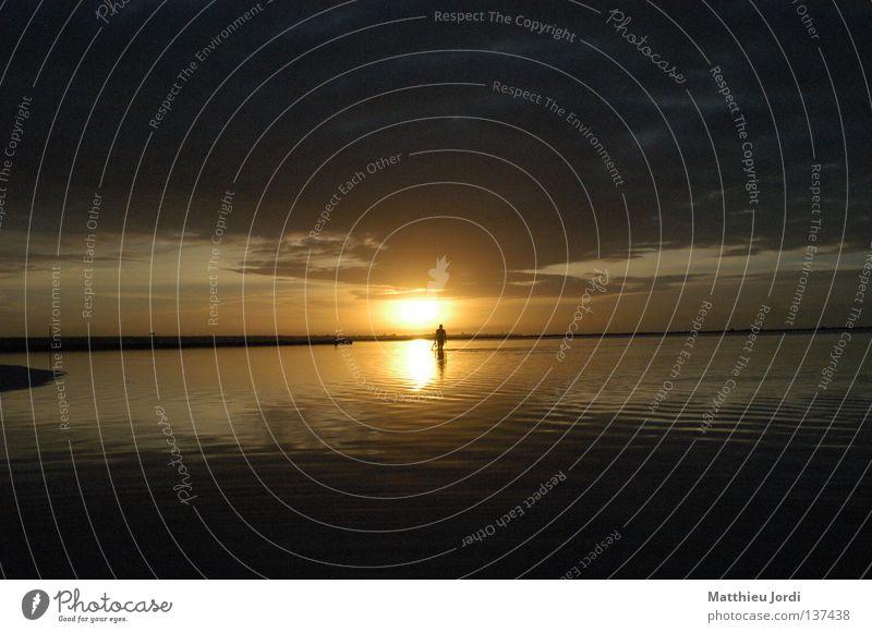 Fischer früh morgens schön Meer Sommer Einsamkeit See Romantik Frieden Sonnenuntergang Himmelskörper & Weltall Mineralwasser Dominikanische Republik