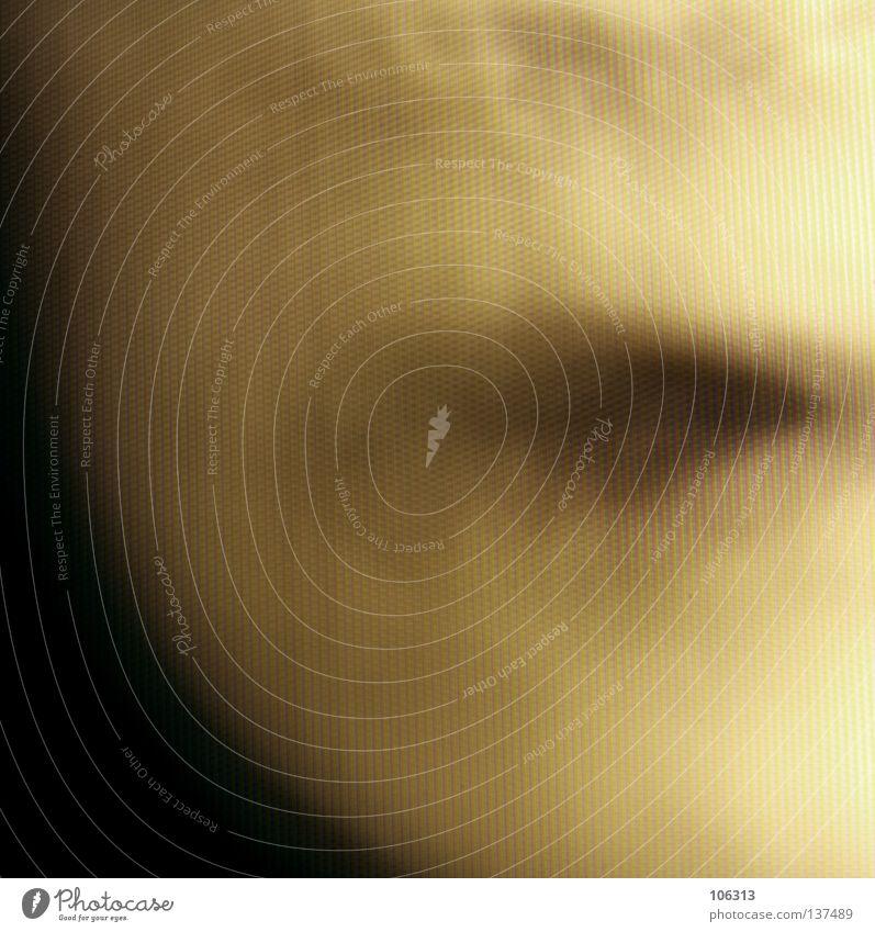 [RGB01] MOUTH Mensch Farbe schwarz Gesicht gelb Gefühle Bewegung träumen Stimmung Linie offen Angst Haut Mund groß Nase