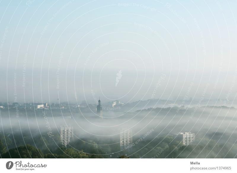 Nordhügelblick Himmel Natur Stadt blau Erholung Landschaft ruhig Haus Wald kalt Umwelt natürlich klein Deutschland oben Horizont
