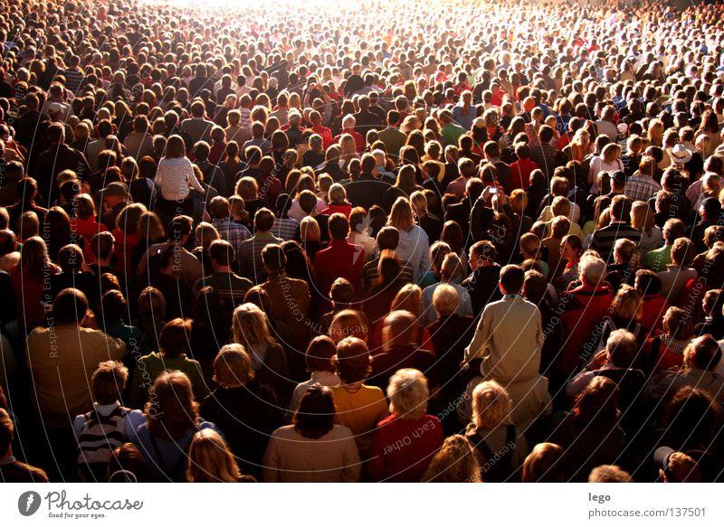 Komm zum Licht Musik Mensch Menschenmenge Konzert beobachten Bewegung Feste & Feiern hören Kommunizieren leuchten Musik hören Blick stehen Tanzen ästhetisch