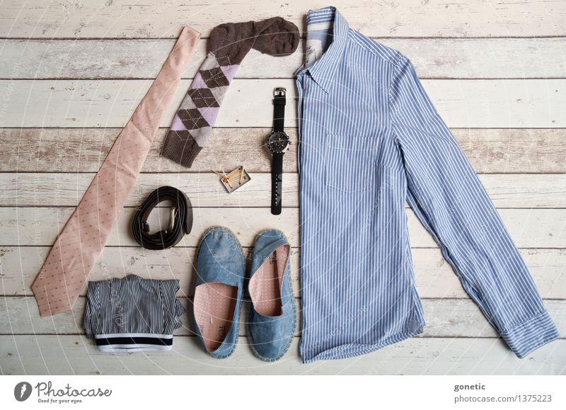 Super still life - Men Fashion kaufen Design Knolling Super Stillleben Krawatte Unterhose Schuhe Hemd Armbanduhr Gürtel Socken Streichhölzer Farbfoto