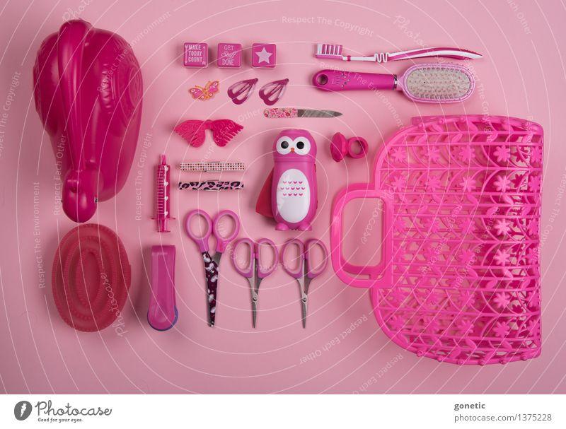 Super still life in pink Freude Spielen Glück außergewöhnlich Metall rosa glänzend Design Zufriedenheit Fröhlichkeit verrückt Kitsch Kunststoff Spielzeug