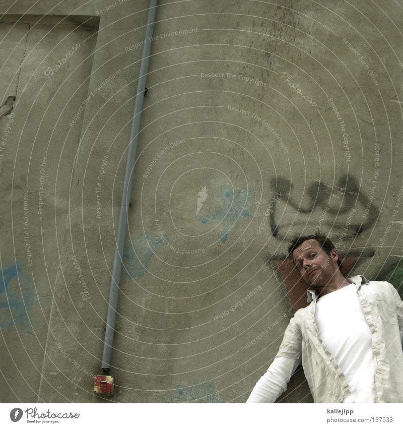 geburtstagskind Mensch Mann Freude Graffiti lachen Lifestyle Macht Symbole & Metaphern Zeichen Humor Politik & Staat Witz König Unsinn Krone Spray