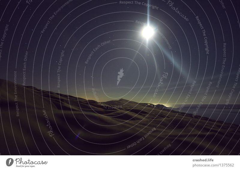 102 Nights Ferien & Urlaub & Reisen Tourismus Abenteuer Ferne Freiheit Natur Landschaft Sand Wasser Wolkenloser Himmel Nachthimmel Stern Horizont Mond Vollmond