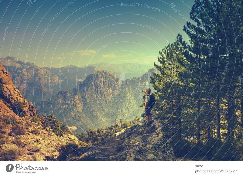 Ohne Rast und Ruh Freizeit & Hobby Ferien & Urlaub & Reisen Tourismus Ausflug Abenteuer Freiheit Sommer Sommerurlaub Insel Berge u. Gebirge wandern Mensch