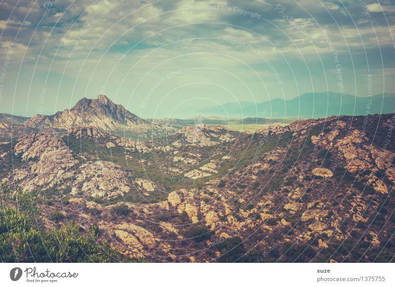 Steinwüste Ferien & Urlaub & Reisen Ausflug Abenteuer wandern Umwelt Natur Landschaft Pflanze Urelemente Erde Luft Himmel Wolken Sommer Hügel Felsen Wüste
