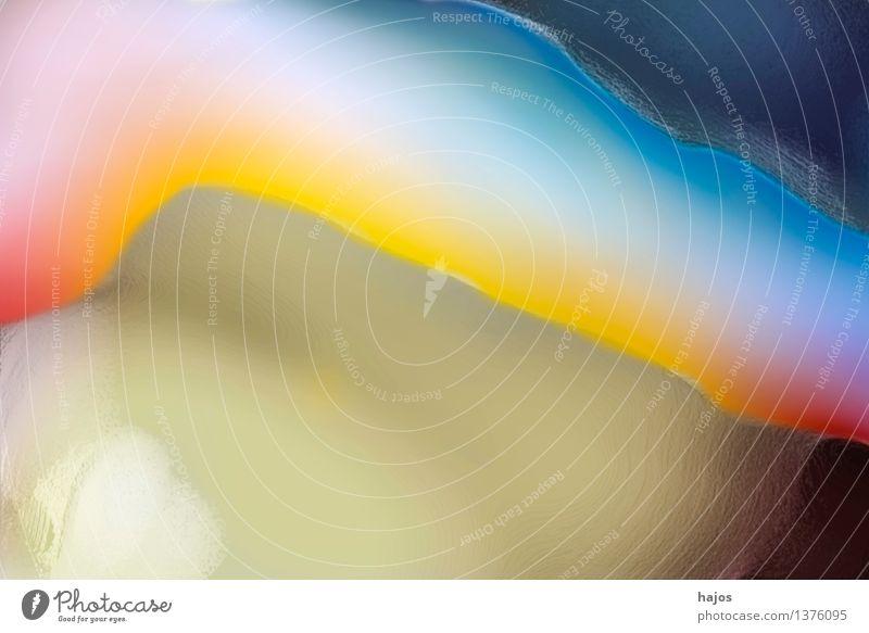 Im Fluss blau gelb grün rot Hintergrundbild fließen Ecke sanft Farbe farbig unscharf natürlich Pastellton Creme Aquarell Verlauf Farbfoto Experiment abstrakt