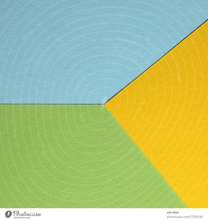 Gelb und Blau vermischt blau grün gelb Hintergrundbild Freizeit & Hobby Grafik u. Illustration graphisch Basteln Karton Dreieck Grafische Darstellung
