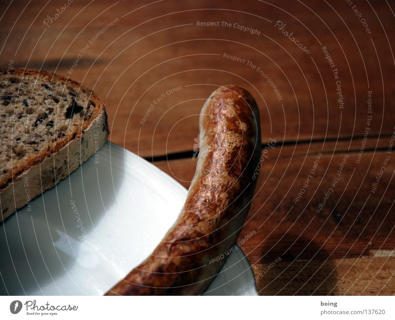 Wurstbröter - mehr Wurst, weniger Brot Feste & Feiern Tisch Küche Gastronomie Grillen Abendessen Fleisch Oktoberfest Wurstwaren Bratwurst