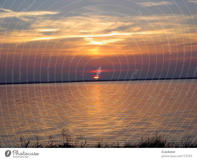 sundown Sonne Meer See