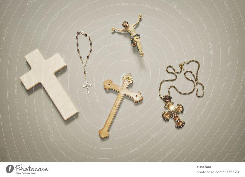 glaube II Religion & Glaube Symbole & Metaphern Christliches Kreuz Gott Christentum Jesus Christus Katholizismus Rosenkranz Super Stillleben