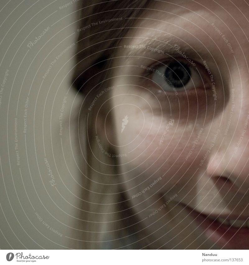 Wie'n Schnitzel Frau Mensch Freude Auge Glück lachen Haare & Frisuren Mund Zufriedenheit lustig Erwachsene Nase Fröhlichkeit Zähne Lippen niedlich