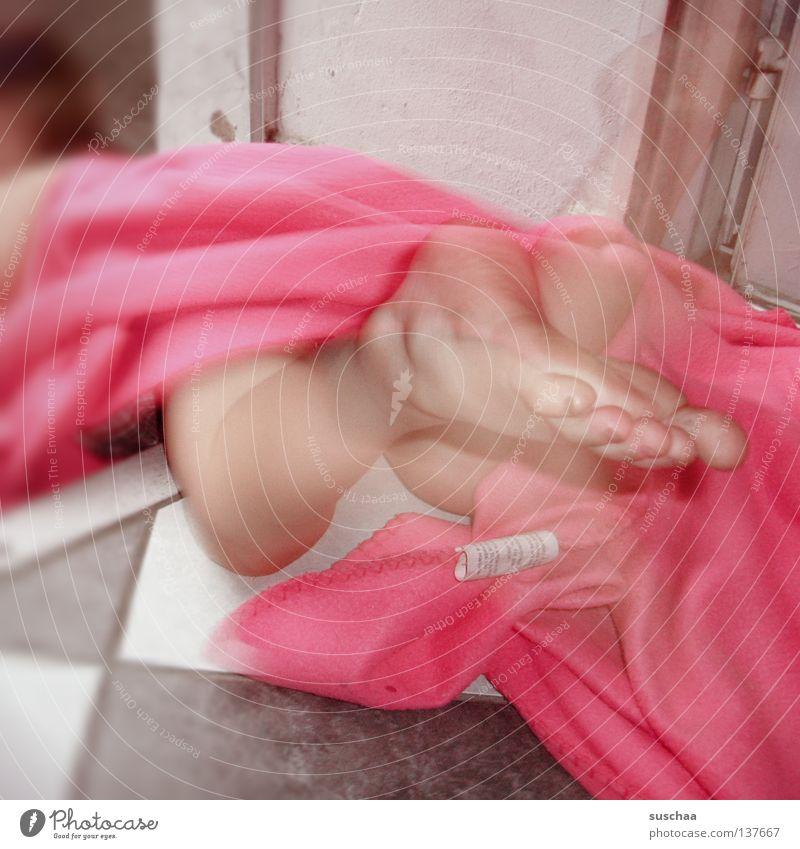 pink Freude Bewegung Fuß Beine rosa Tür außergewöhnlich Fliesen u. Kacheln Stoff Eingang Decke seltsam fließen Tuch Treppenabsatz