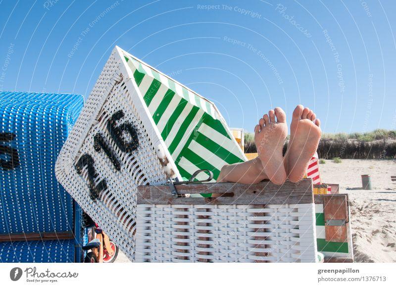Endlich Ferien! Natur Ferien & Urlaub & Reisen Sommer Erholung Meer Landschaft ruhig Strand Leben Herbst Frühling Küste Beine Schwimmen & Baden Fuß
